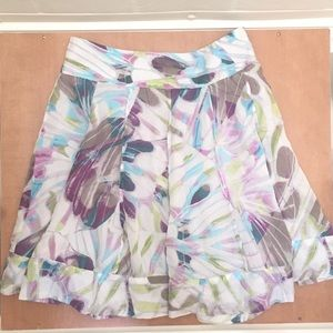 Leifsdottir Anthropologie Silk Skirt Size 2 Small